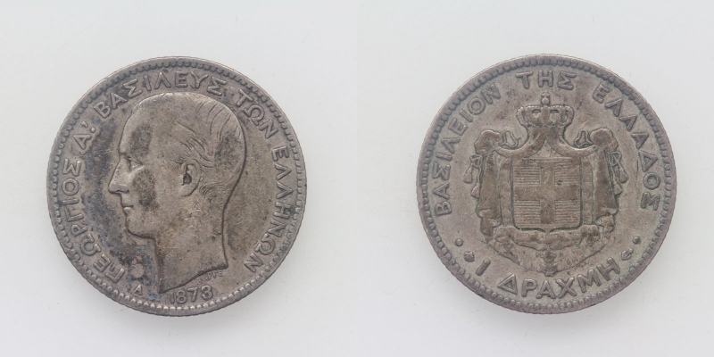 Griechenland George I. 1 Drachme 1873 A
